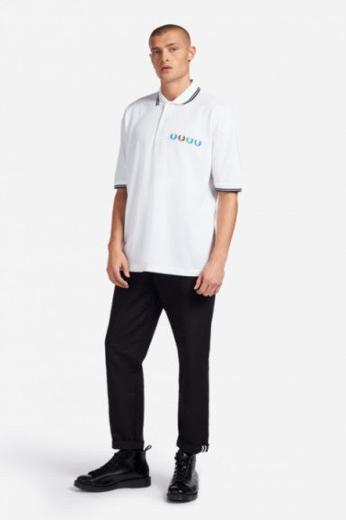 Beams Twin Tipped Polo Shirt White