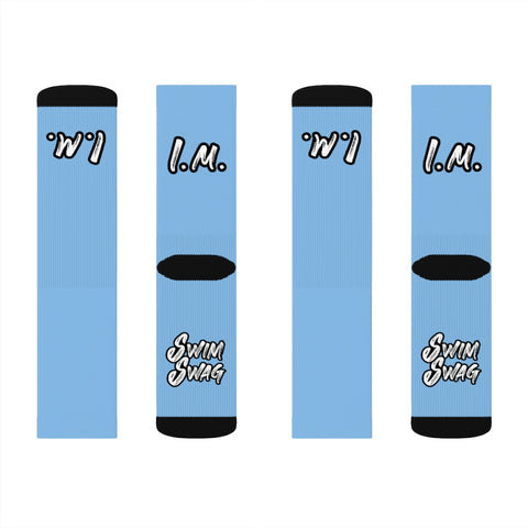 """I.M."" Medley Socks (Chlorine Water Blue)"