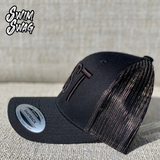 """BRST"" Hat - Breaststroke (Black on Black)"