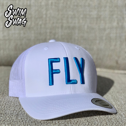 """FLY"" Hat - Butterfly (White & Blue)"