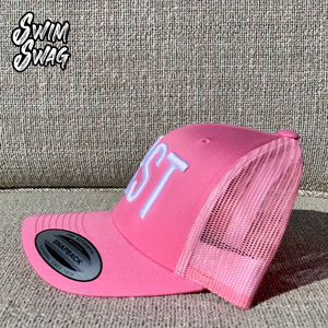 """BRST"" - Breaststroke (Pink & White)"