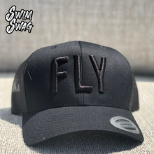 "Load image into Gallery viewer, ""FLY"" - Butterfly (Black on Black)"