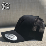"""FLY"" Hat - Butterfly (Black on Black)"