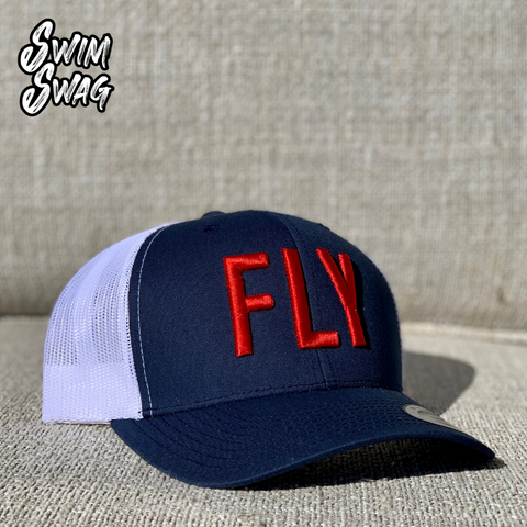 """FLY"" Hat - Butterfly (Red, White, Blue)"