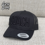 """COACH"" Hat  (Black on Black)"