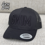 """SWIM"" Hat  (Black on Black)"