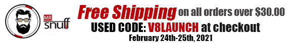 Use code V8LAUNCH for Free Shipping!