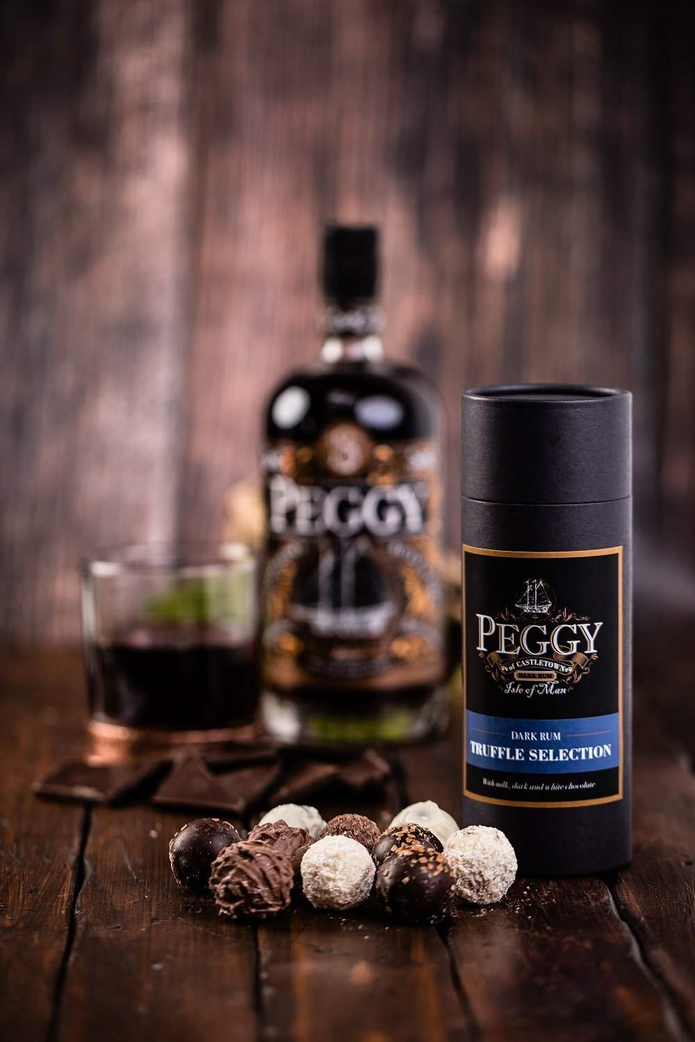 Peggy Dark Rum Truffle Selection - MrSnuff