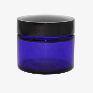 Glass Jar Cobalt