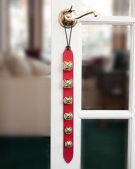 New 6 Gold Bell Leather Jingle Sleigh Bell Door Decoration