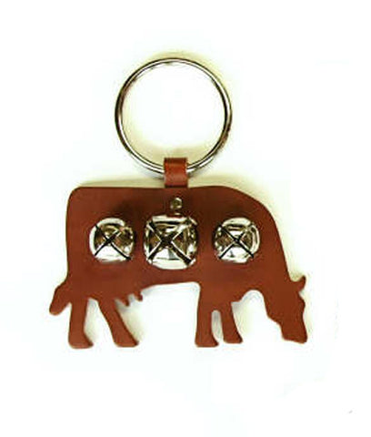 New Jingle Bell Cow Leather Door Knocker Decoration