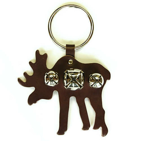 New Jingle Bell Moose Leather Door Knocker Decoration