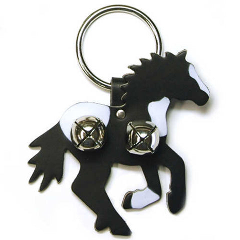 New Jingle Bell Running Horse with Spots Leather Door Knocker Decoration
