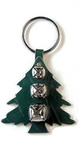New Jingle Bell Pine Tree Leather Door Knocker Decoration