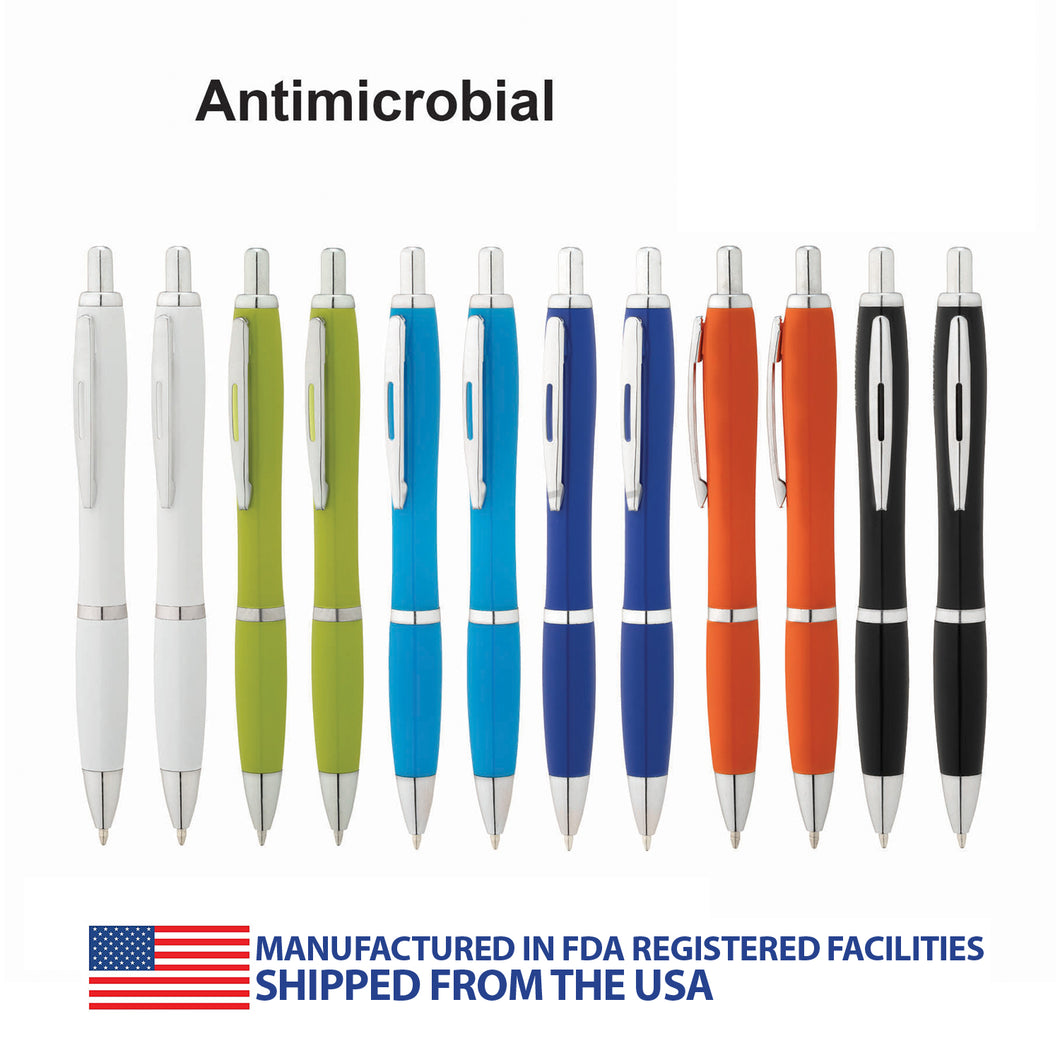 Antimicrobial Ballpoint Pen - 12 Pack