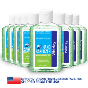 Hand Sanitizer 8oz Bottle - 75% Alcohol - 8 Pack