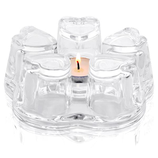 Heart Glass Teapot Warmer