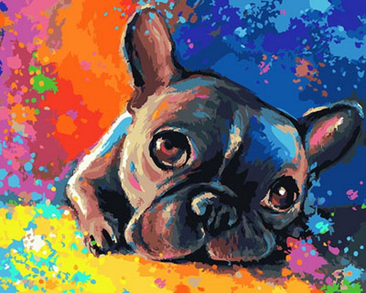 Colorful Thinking Dog Paint by Numbers (4727002431619)