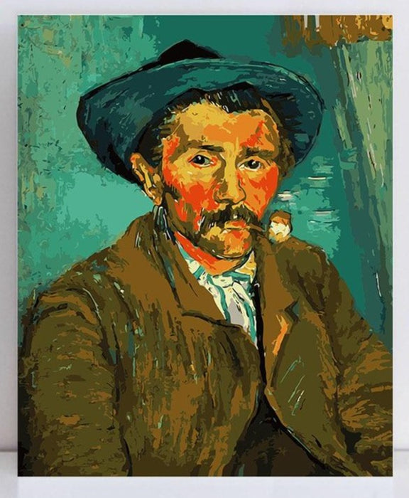 Van Gogh Paint by Numbers: Portrait with Pipe and Hat