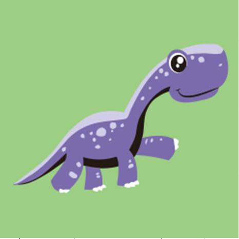 Purple Dinosaur Paint by Numbers for Kids