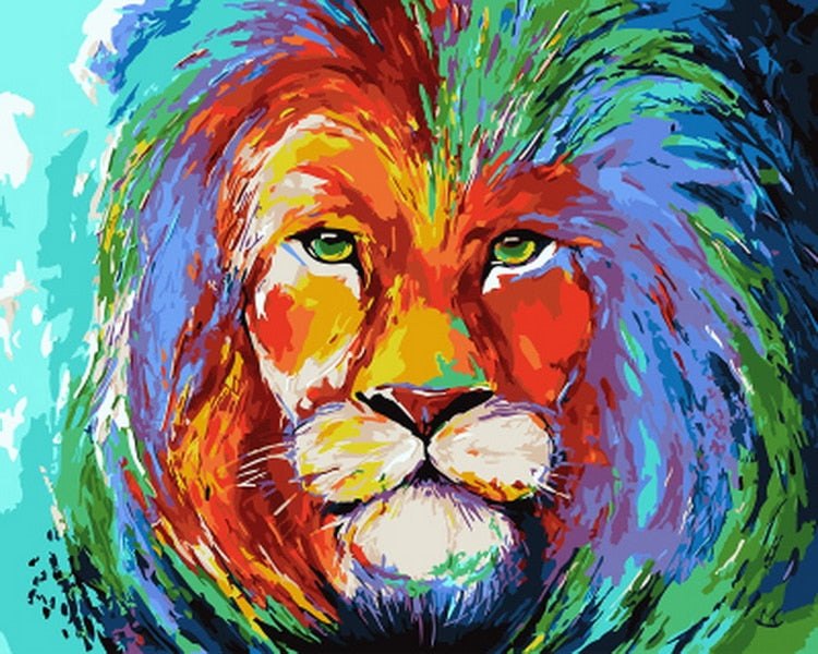 Colorful Lion Paint by Numbers (4728935874691)