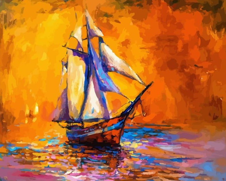 Abstract Boat Paint By By Numbers (4921744326787)