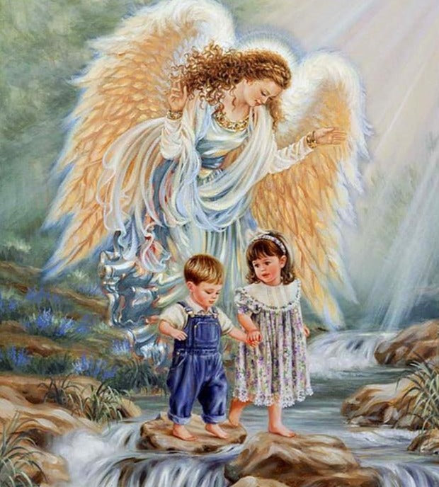 Angel with Two Child Diamond Painting