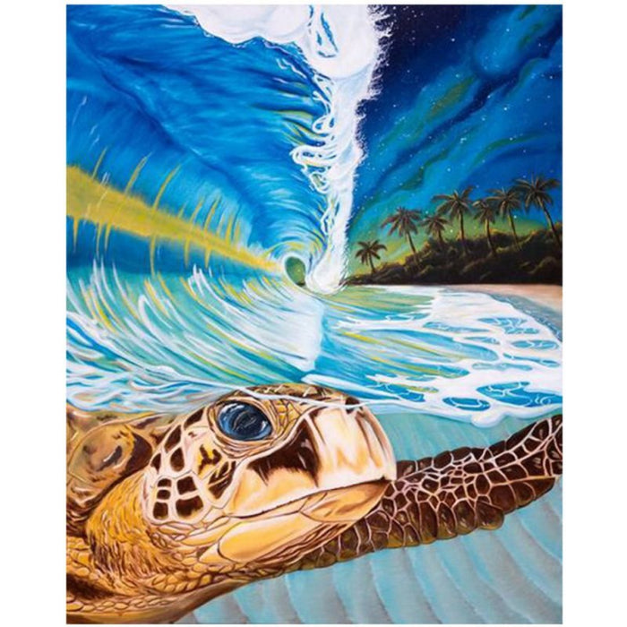 Turtle Seascape Paint By Numbers (4828787966083)