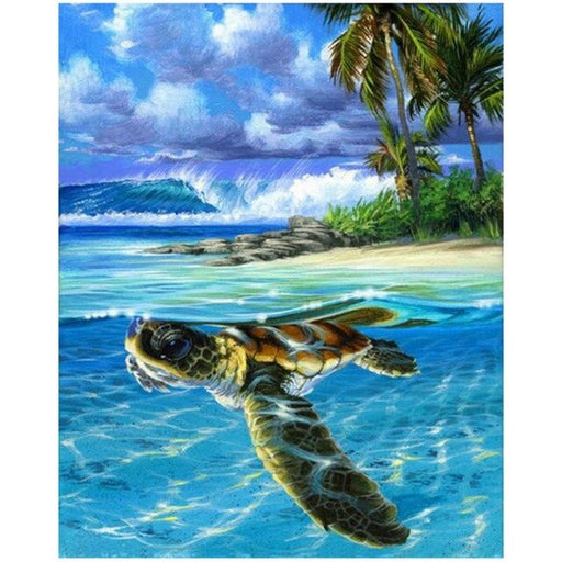 Turtle Swimming Paint By Numbers (4828786000003)