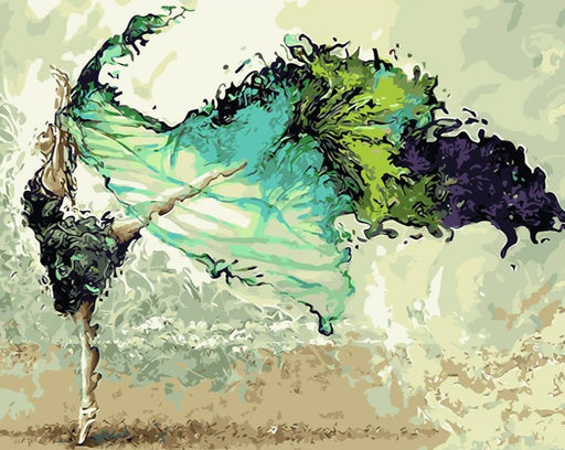 Butterfly Dancing Girl Paint By Numbers (4813978108035)