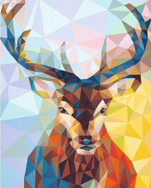 Modern Deer Paint By Numbers (4738348351619)