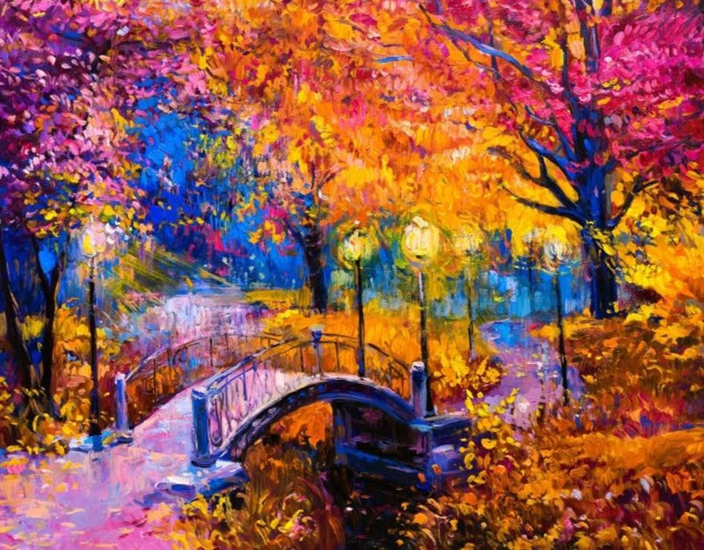 Colorful Autumn Bridge Paint By Numbers (4921751535747)