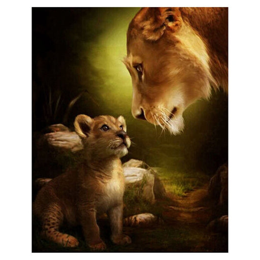 Mother and Cub Lions Paint By Numbers (4728976277635)