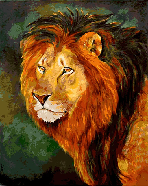 Male Lion Paint by Numbers (4728912937091)