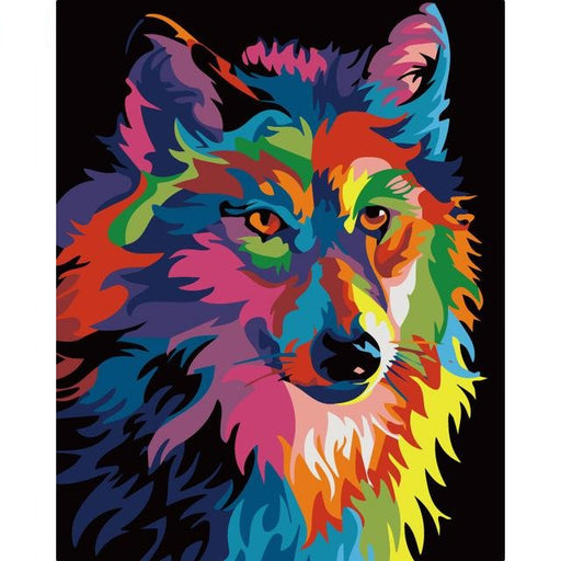Colorful Wolf Paint By Numbers (4737867546755)