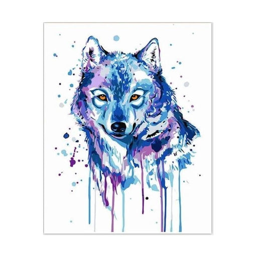 Blue Wolf Paint by Numbers (4737854963843)