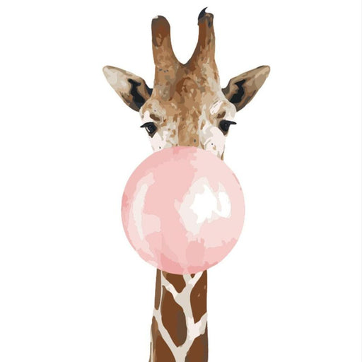 Bubble Gum Giraffe Paint By Numbers (4749700661379)
