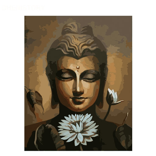 Buddha and Water Lily Paint By Numbers (4771650371715)
