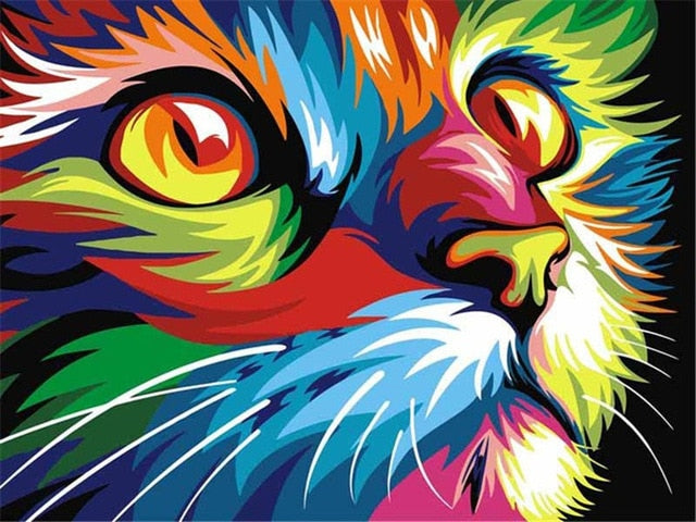 Colorful Cat Paint By Numbers (4780628443267)