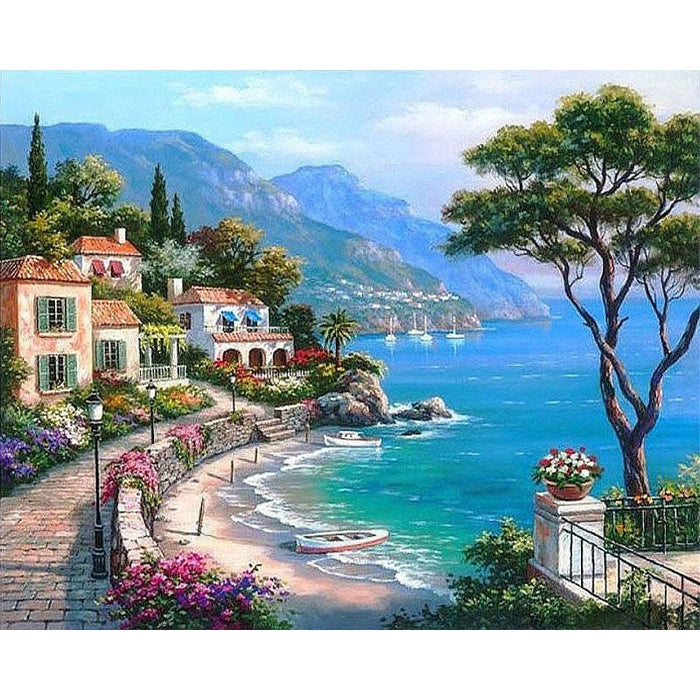 Harbor Landscape Paint By Numbers (4916690452611)