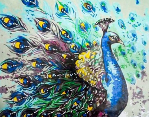 Vibrant Peacock Paint By Numbers (4814180941955)