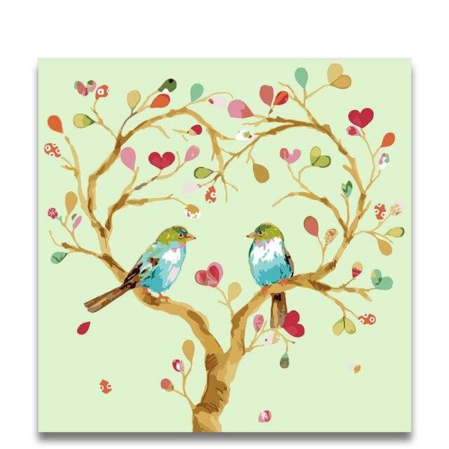 Birds In Tree Paint By Numbers (4796362129539)