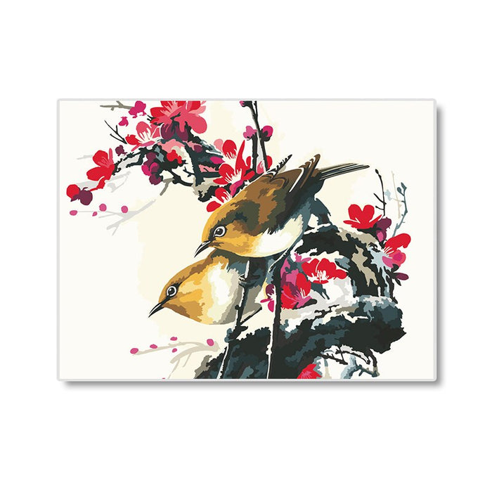 Birds and Plum Hand Paint By Numbers (4796357869699)
