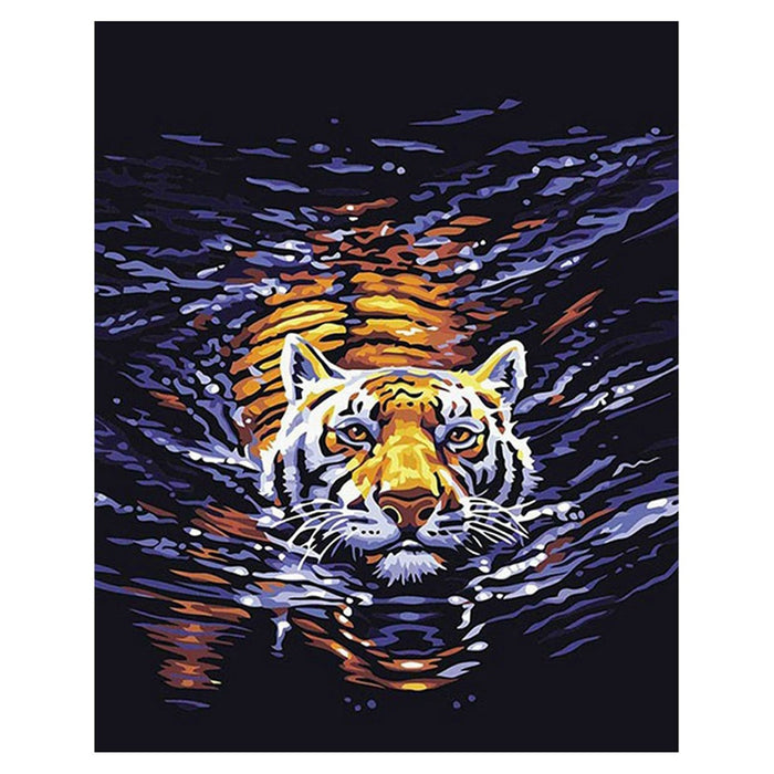 Tiger In The Water Paint By Numbers (4796612247683)