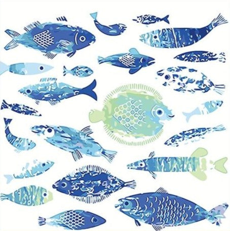 Blue School Of Fish Paint By Numbers (4805203034243)