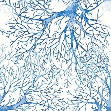Blue Fish Branches Paint By Numbers (4805197529219)
