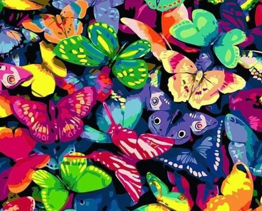 Colorful Butterfly Ocean Paint By Numbers (4814042759299)