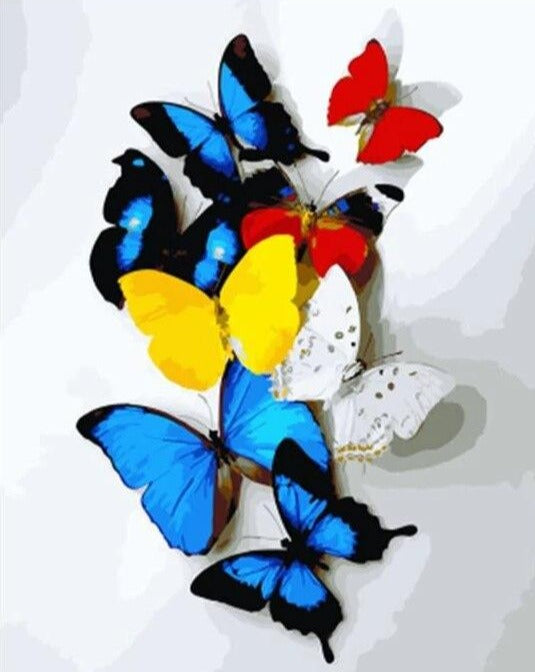 Butterflies In A Row Paint By Numbers (4814012252291)
