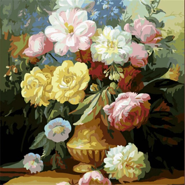 Formal Flowers Paint By Numbers (4828821127299)