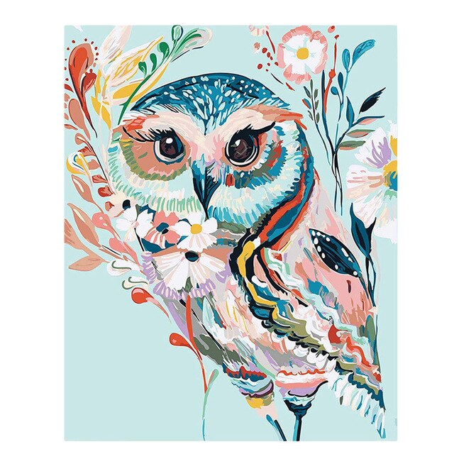 Colorful Owl Paint By Numbers (4828828565635)